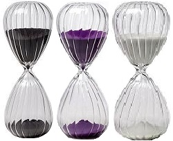 Twist Glass Sand Timers, All colors