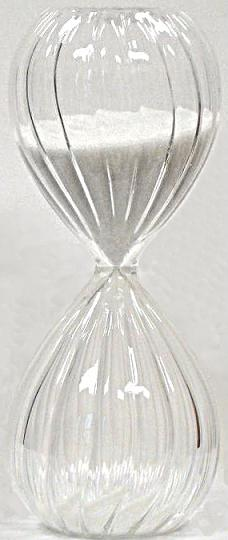 Twist Glass Sand Timer With White Sand