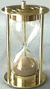 Refillable Hourglass, Front View