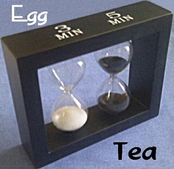 Steeping Tea and Egg Sand Timer Set