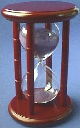 15-Minute Hourglass, Front View