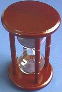Dark Wood Hourglass, Top view