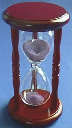 5-Minute Wood Hourglass, Top View