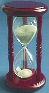 Dark Wood Hourglass, Front view