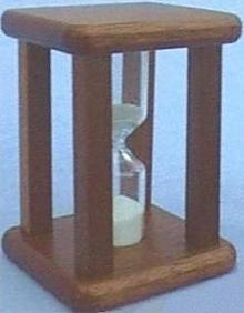 Mahogany Egg Timer, Left View