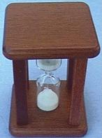 Mahogany Egg Timer, Top View