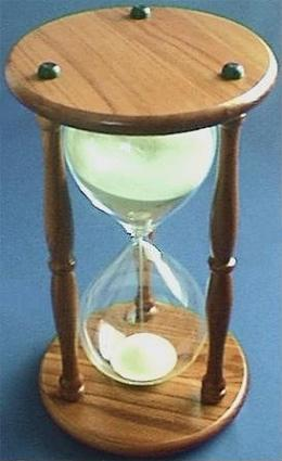 100-Minute Hourglass, Top View
