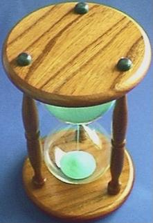 Wood Hourglass, Top view