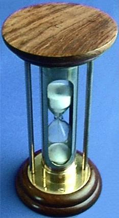 Sheesham Wood Sand Timer, Top View