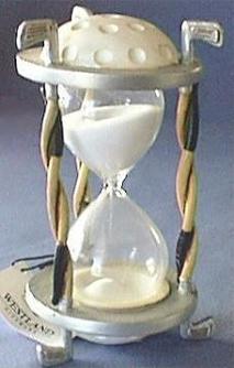 Golfing Theme Hourglass