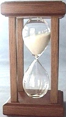 Mahogany Wood Hourglass