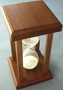 Mahogany Sand Timer, Top View