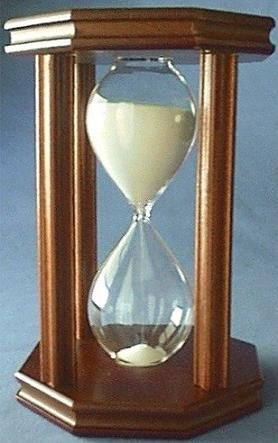 Mahogany Hourglass, Front View